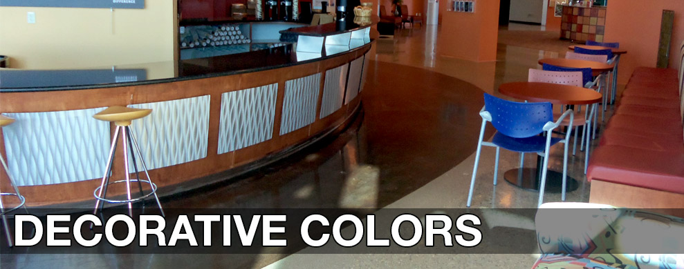 Decorative Colors for Concrete Staining and Dyes by Chem-Coat Industries, Inc.